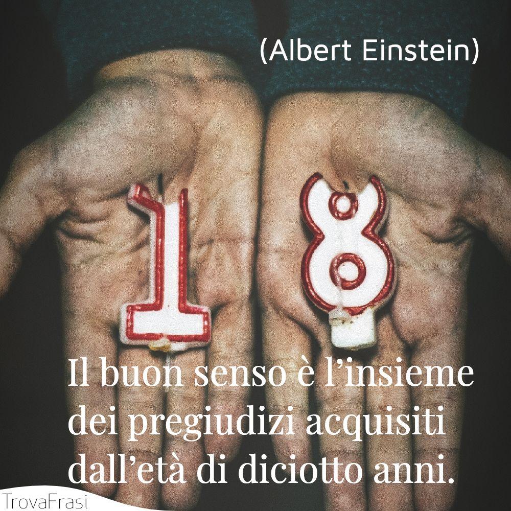 Il buon senso è l'insieme dei pregiudizi acquisiti dall'età di diciotto anni.