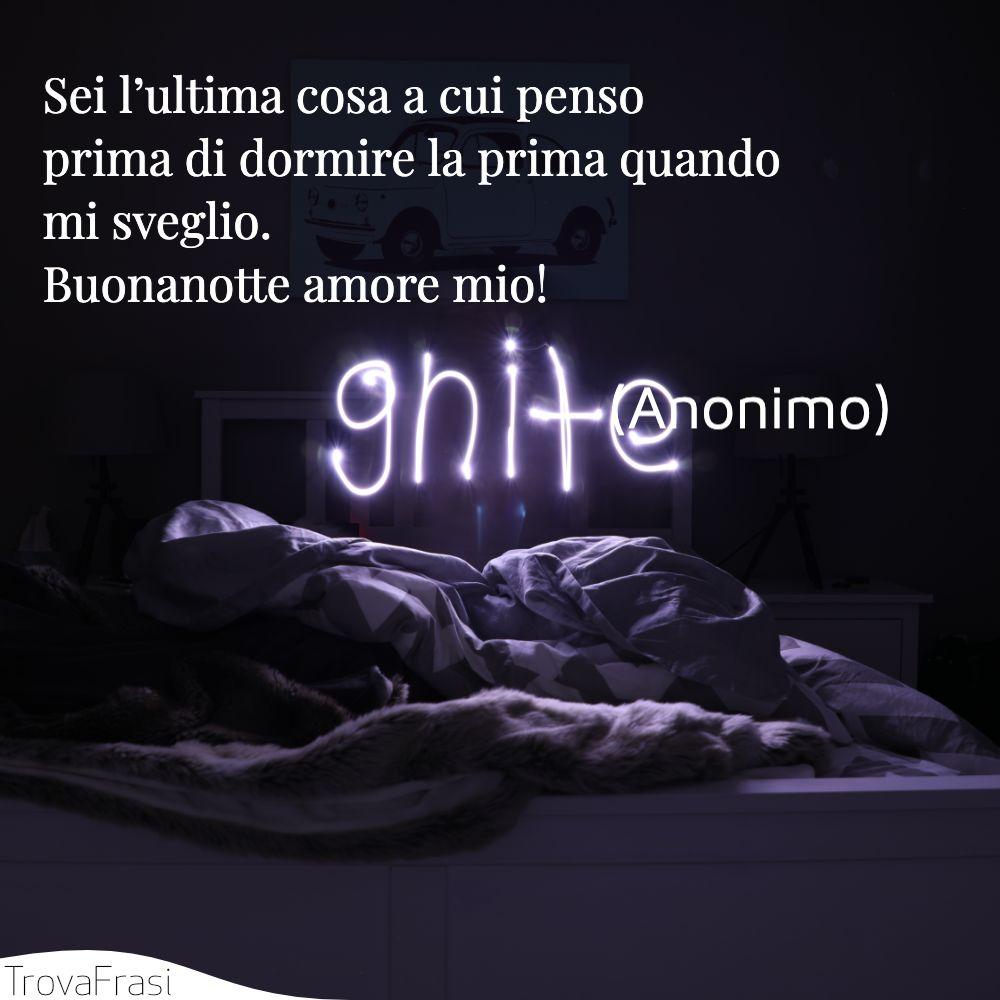 Frasi Damore Buonanotte Amore Mio