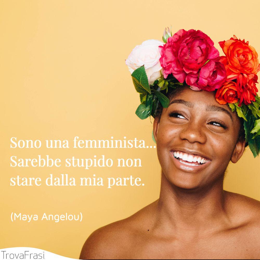 Sono una femminista... Sarebbe stupido non stare dalla mia parte.