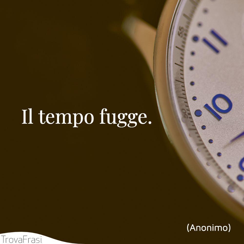 Il tempo fugge.