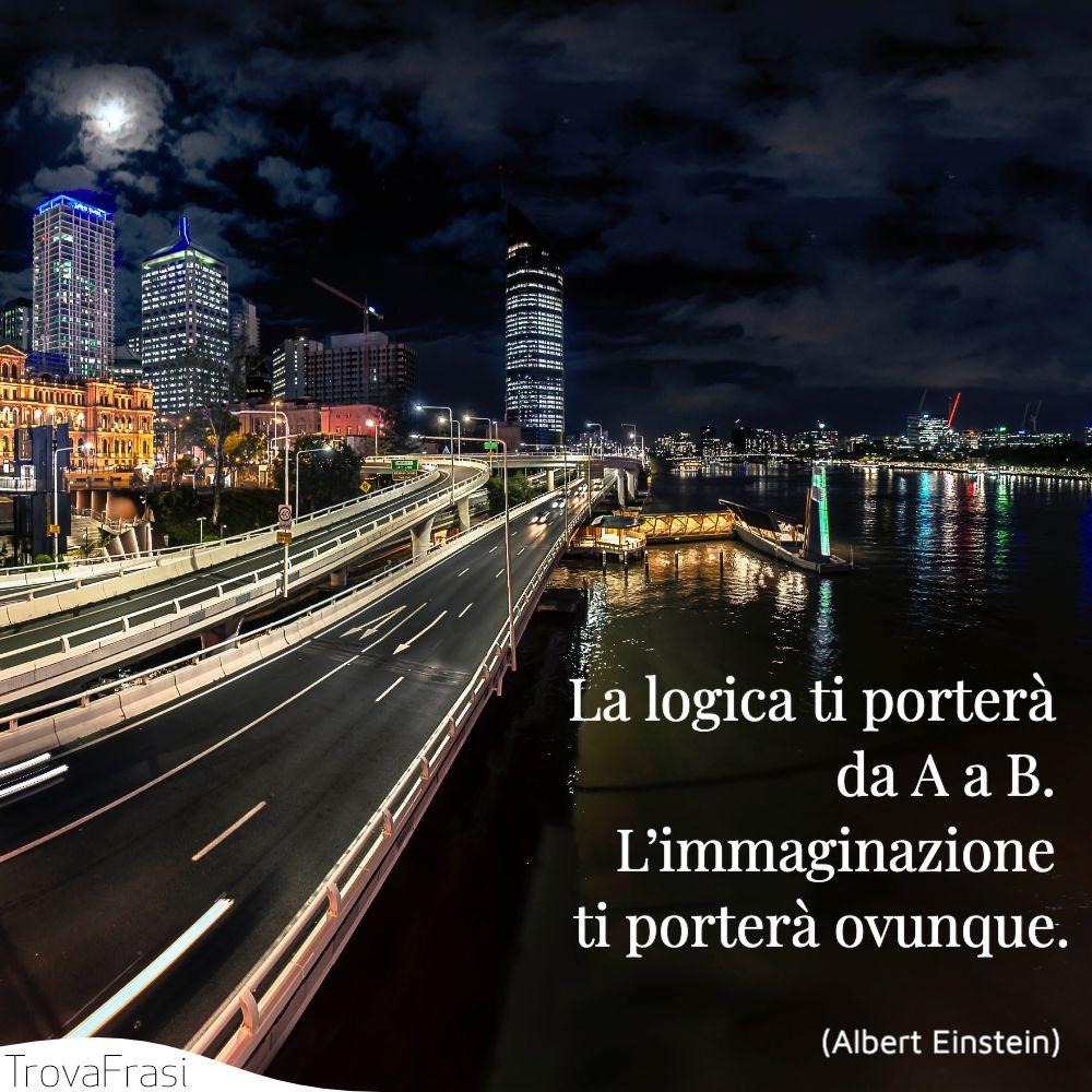 La logica ti porterà da A a B. L'immaginazione ti porterà ovunque.