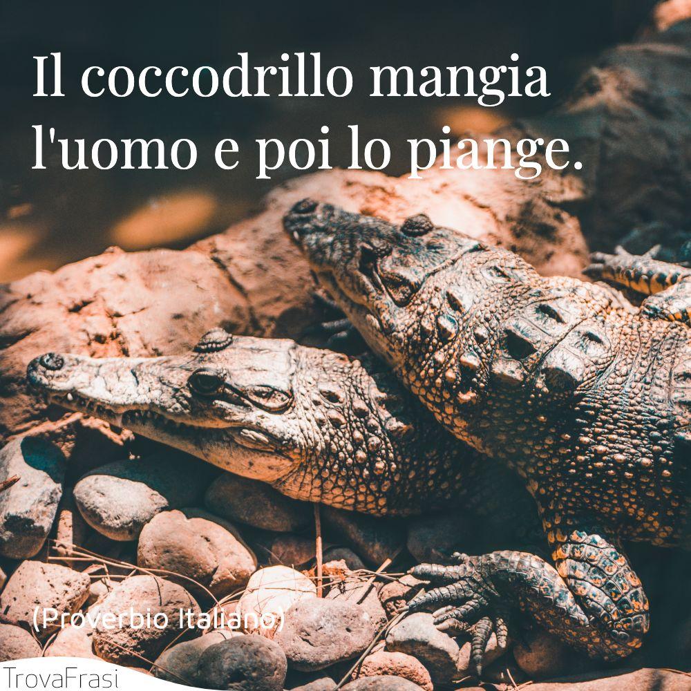 Il coccodrillo mangia l'uomo e poi lo piange.