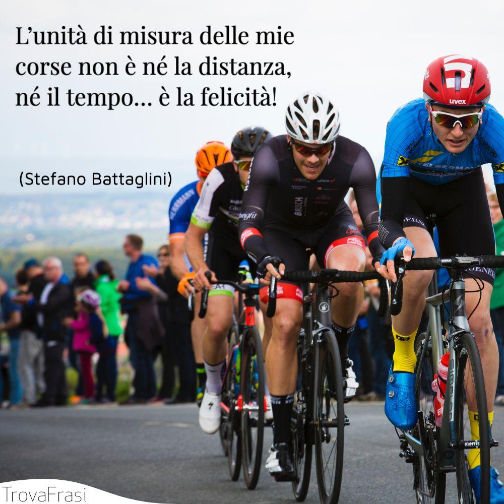 L'unità di misura delle mie corse non è né la distanza, né il tempo… è la felicità!