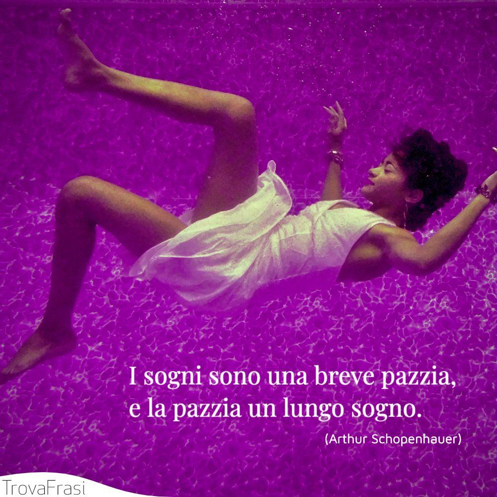 I sogni sono una breve pazzia, e la pazzia un lungo sogno.