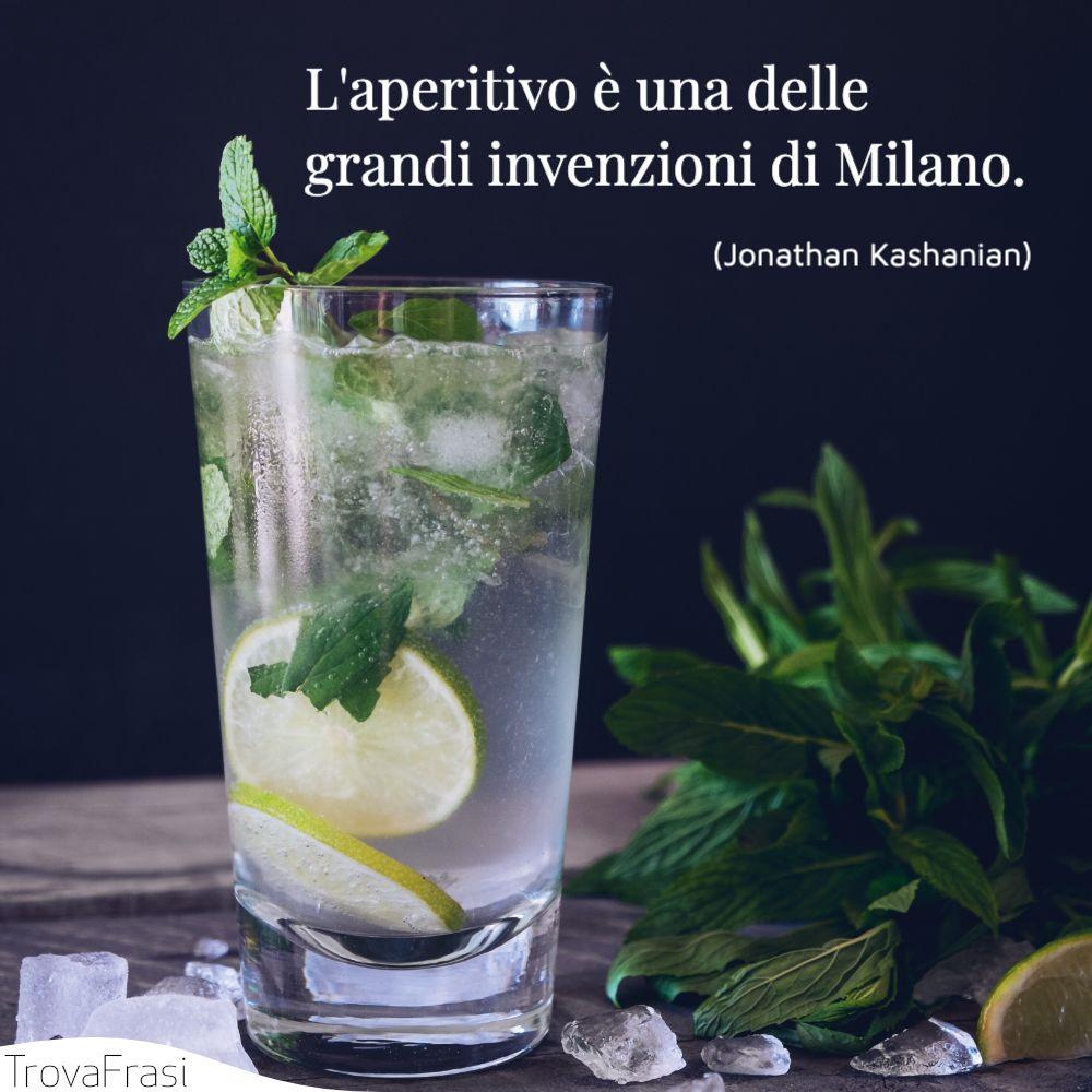 L'aperitivo è una delle grandi invenzioni di Milano.