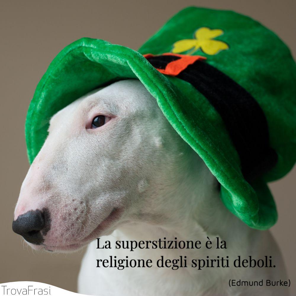 La superstizione è la religione degli spiriti deboli.