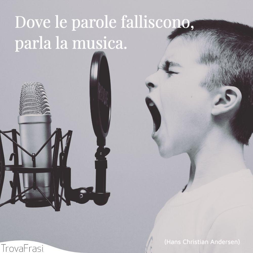 Dove le parole falliscono, parla la musica.