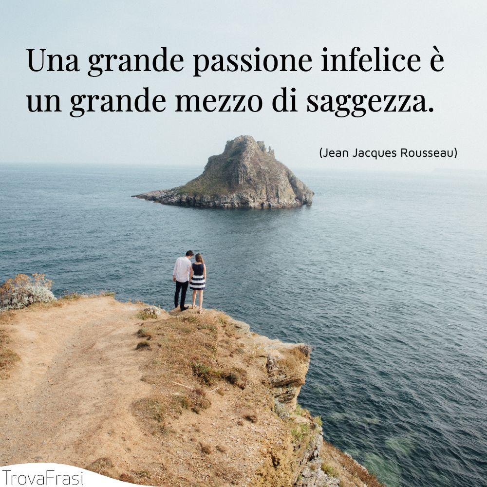 Una grande passione infelice è un grande mezzo di saggezza.