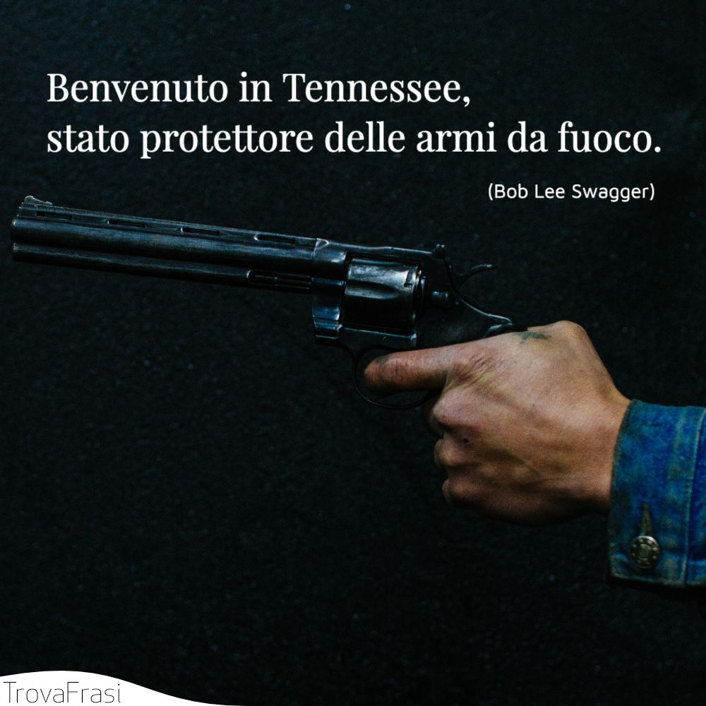 Benvenuto in Tennessee, stato protettore delle armi da fuoco.
