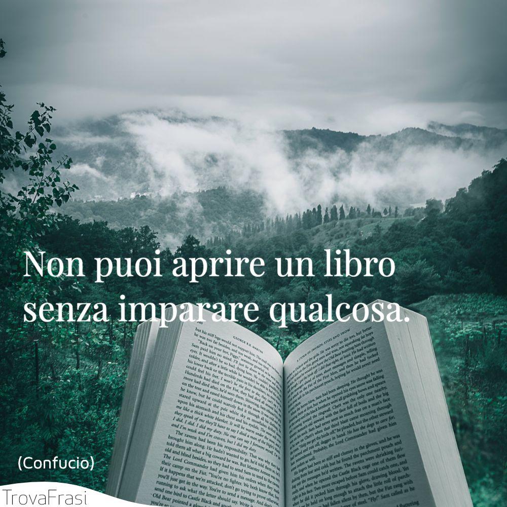 Non puoi aprire un libro senza imparare qualcosa.