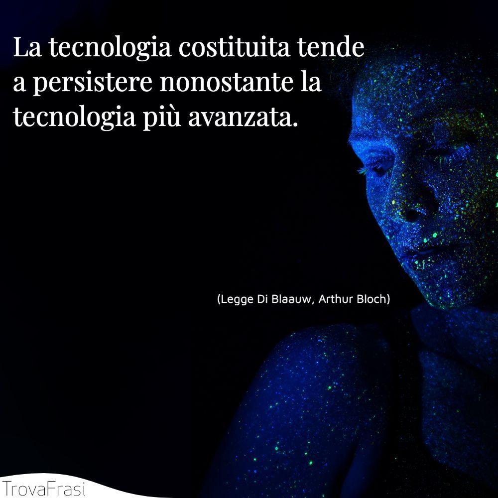 La tecnologia costituita tende a persistere nonostante la tecnologia più avanzata.