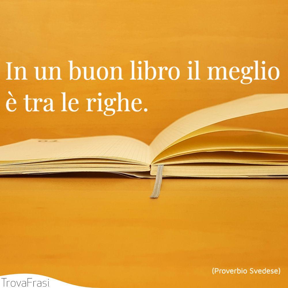 In un buon libro il meglio è tra le righe.