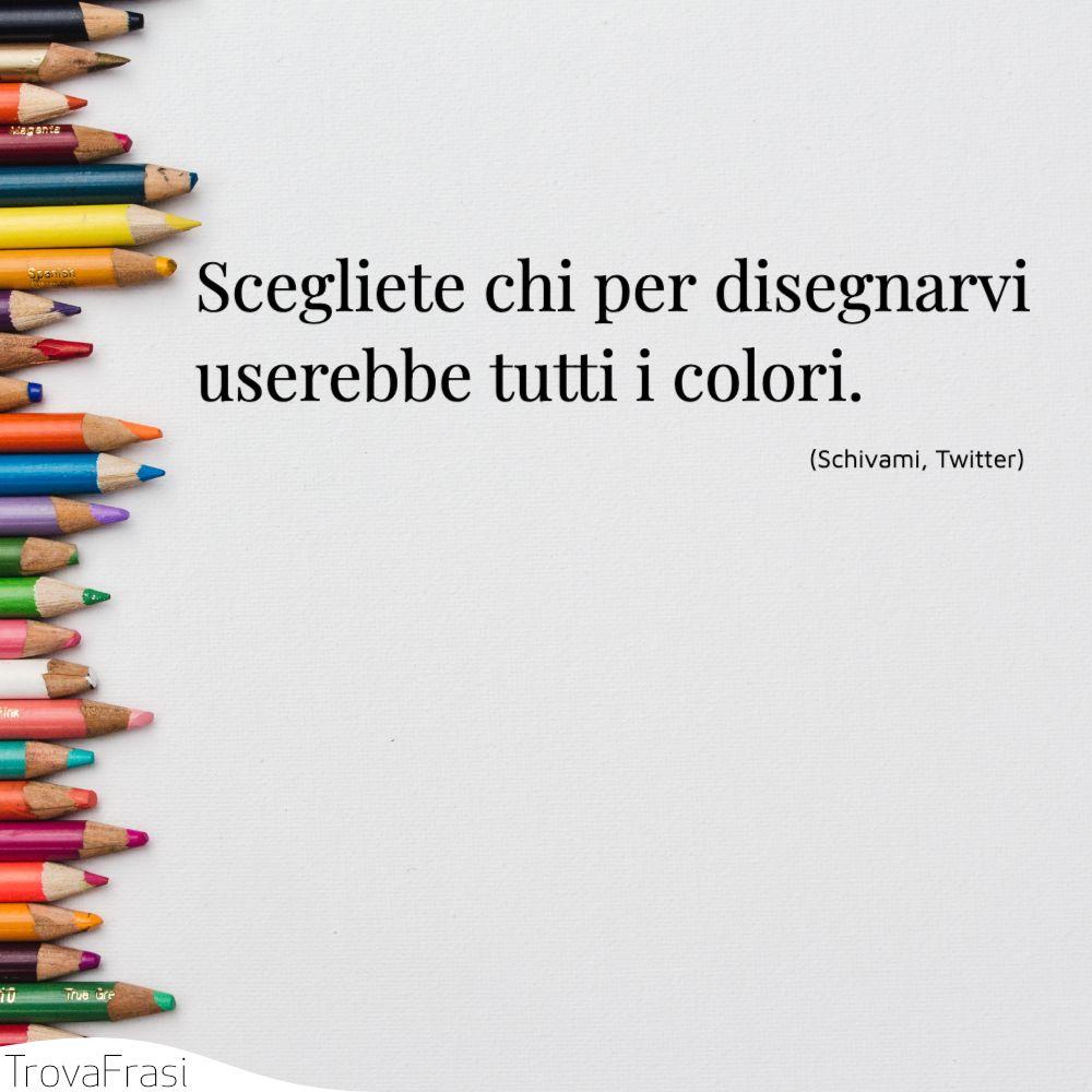 Scegliete chi per disegnarvi userebbe tutti i colori.