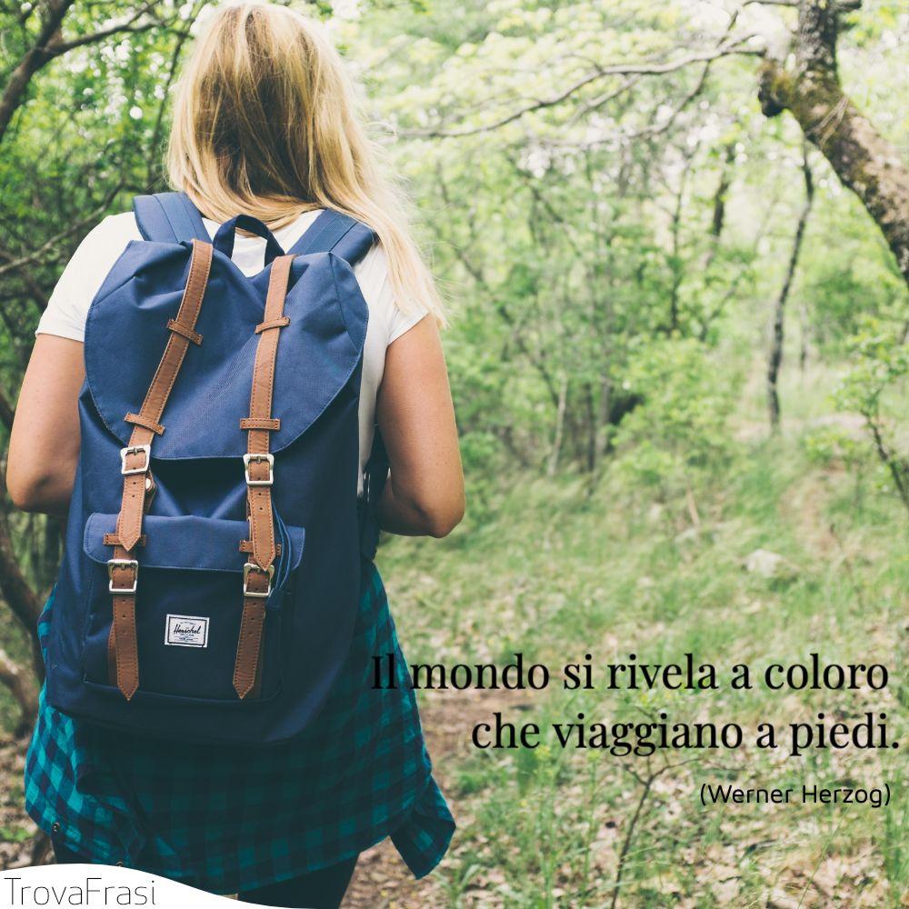 Il mondo si rivela a coloro che viaggiano a piedi.