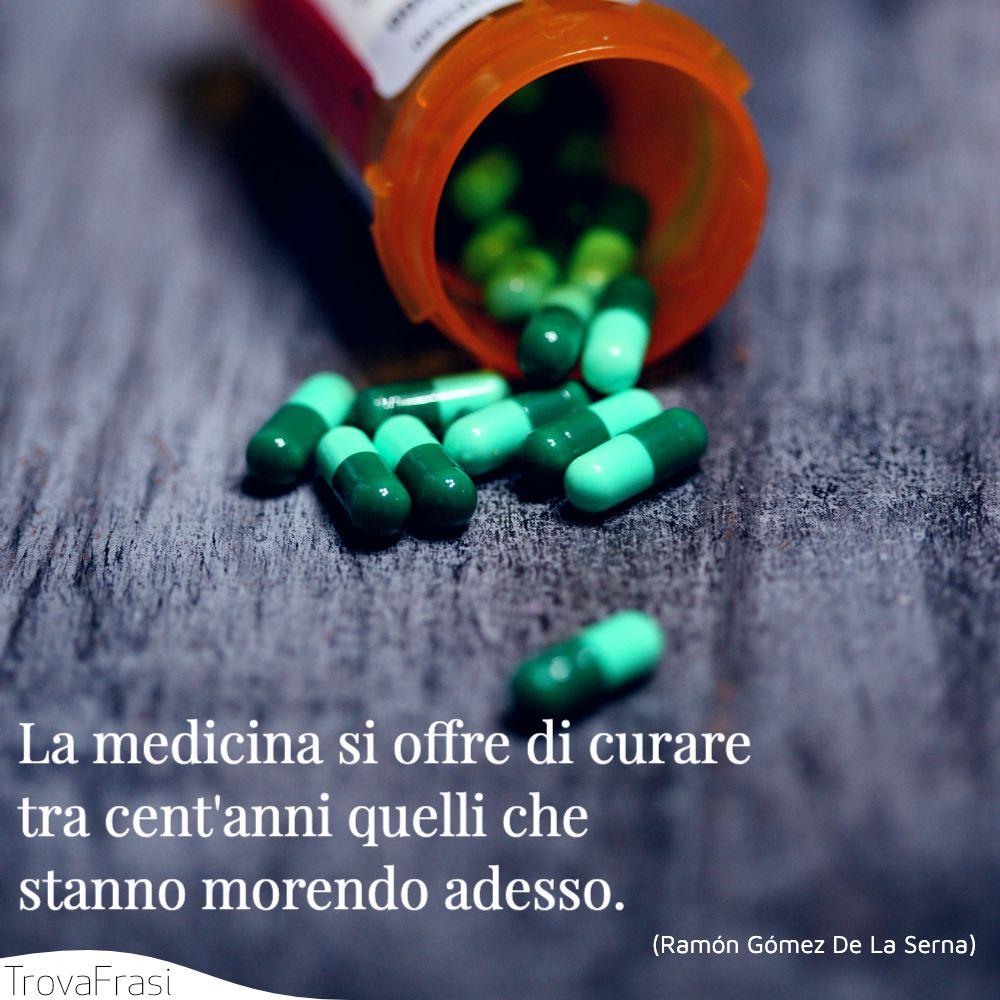 La medicina si offre di curare tra cent'anni quelli che stanno morendo adesso.
