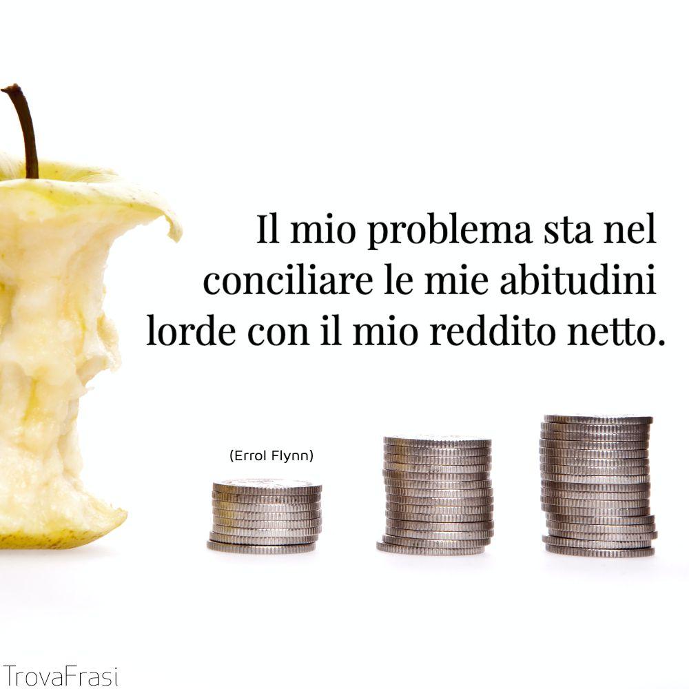 Il mio problema sta nel conciliare le mie abitudini lorde con il mio reddito netto.