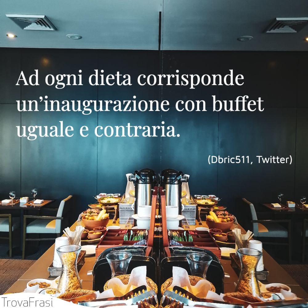 Ad ogni dieta corrisponde un'inaugurazione con buffet uguale e contraria.