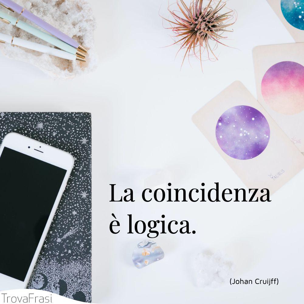 La coincidenza è logica.