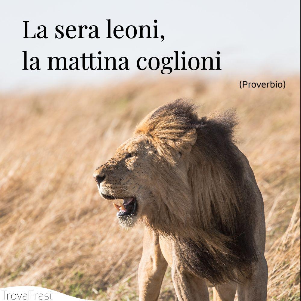 La sera leoni, la mattina coglioni