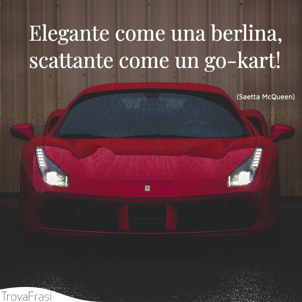 Elegante come una berlina, scattante come un go-kart!