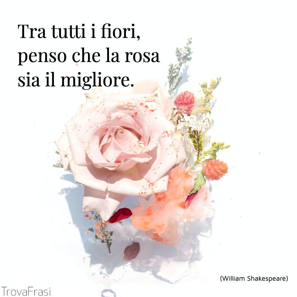 Tra tutti i fiori, penso che la rosa sia il migliore.