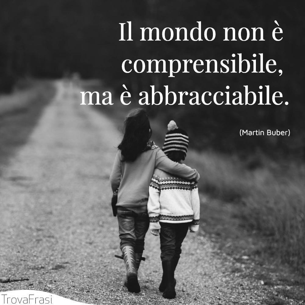 Il mondo non è comprensibile, ma è abbracciabile.