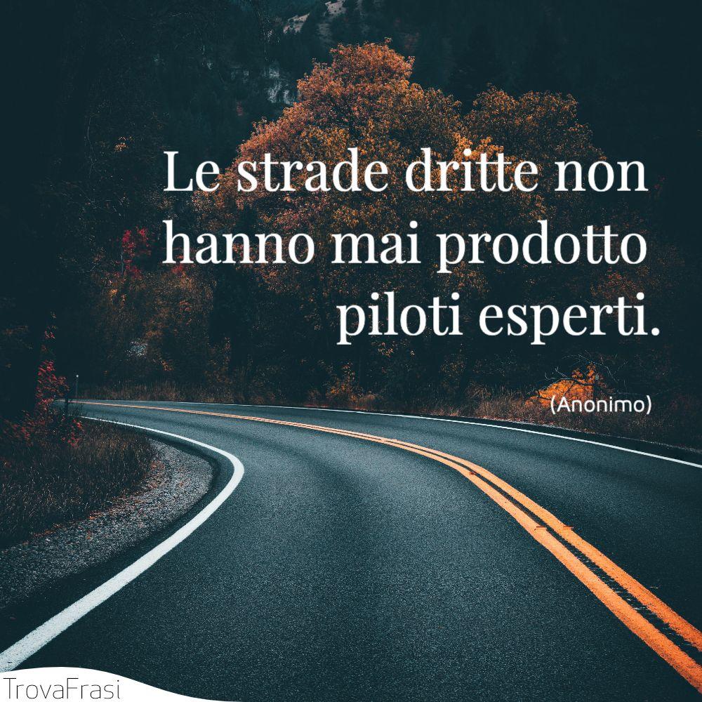 Le strade dritte non hanno mai prodotto piloti esperti.