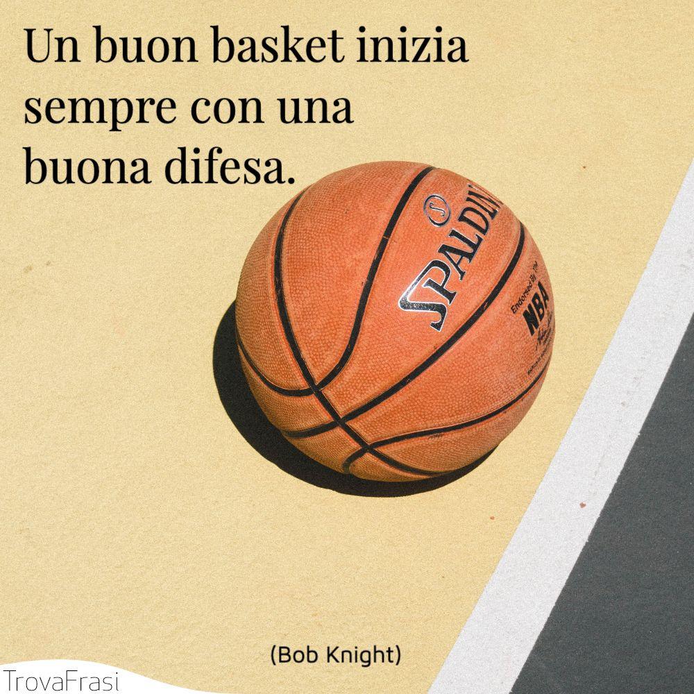 Un buon basket inizia sempre con una buona difesa.