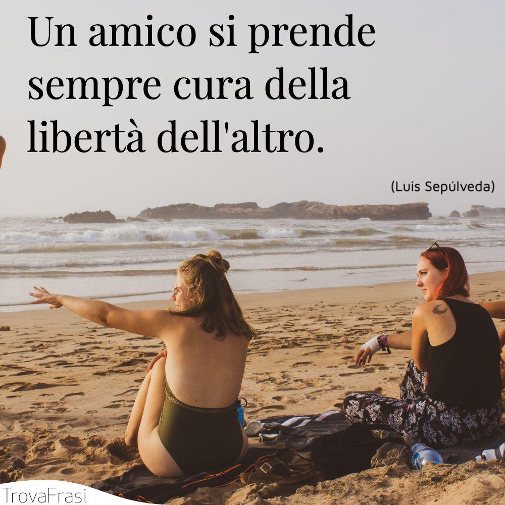 Un amico si prende sempre cura della libertà dell'altro.