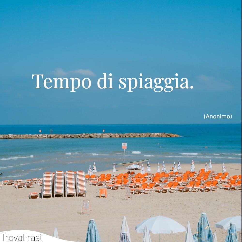 Tempo di spiaggia.