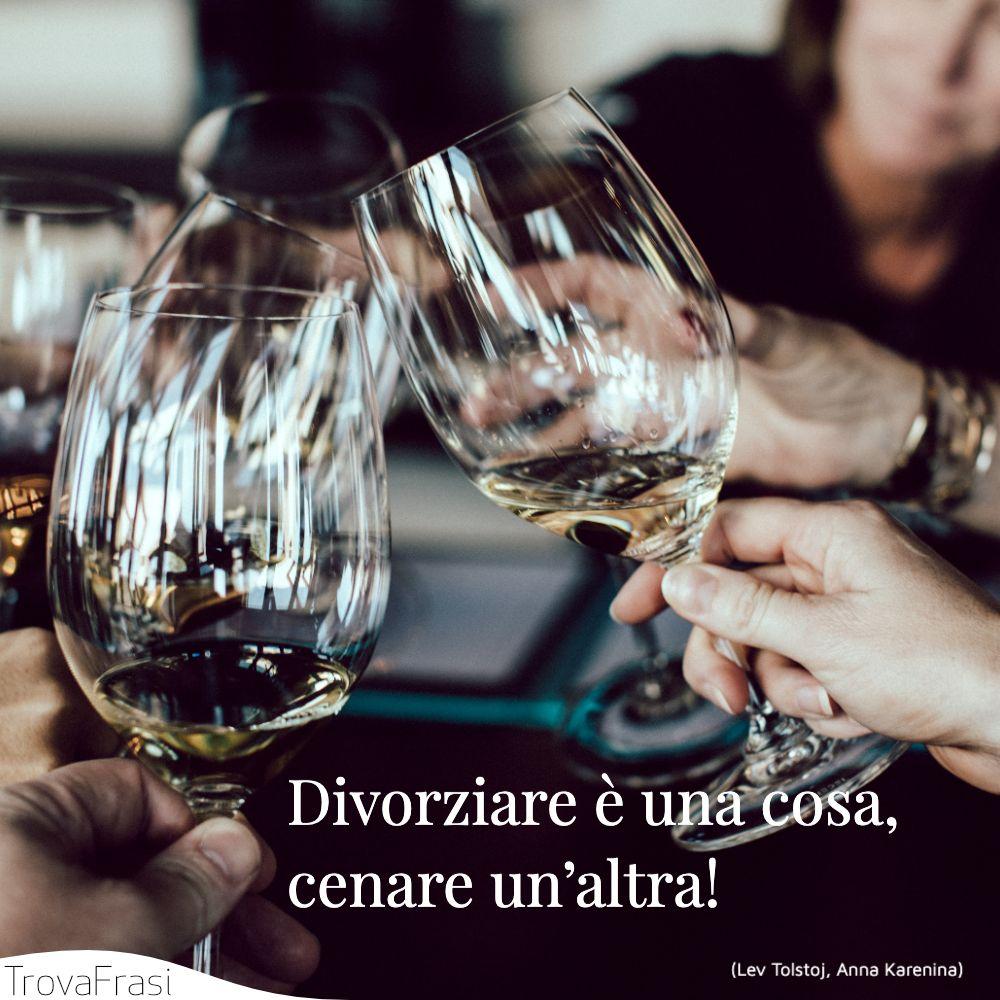 Divorziare è una cosa, cenare un'altra!