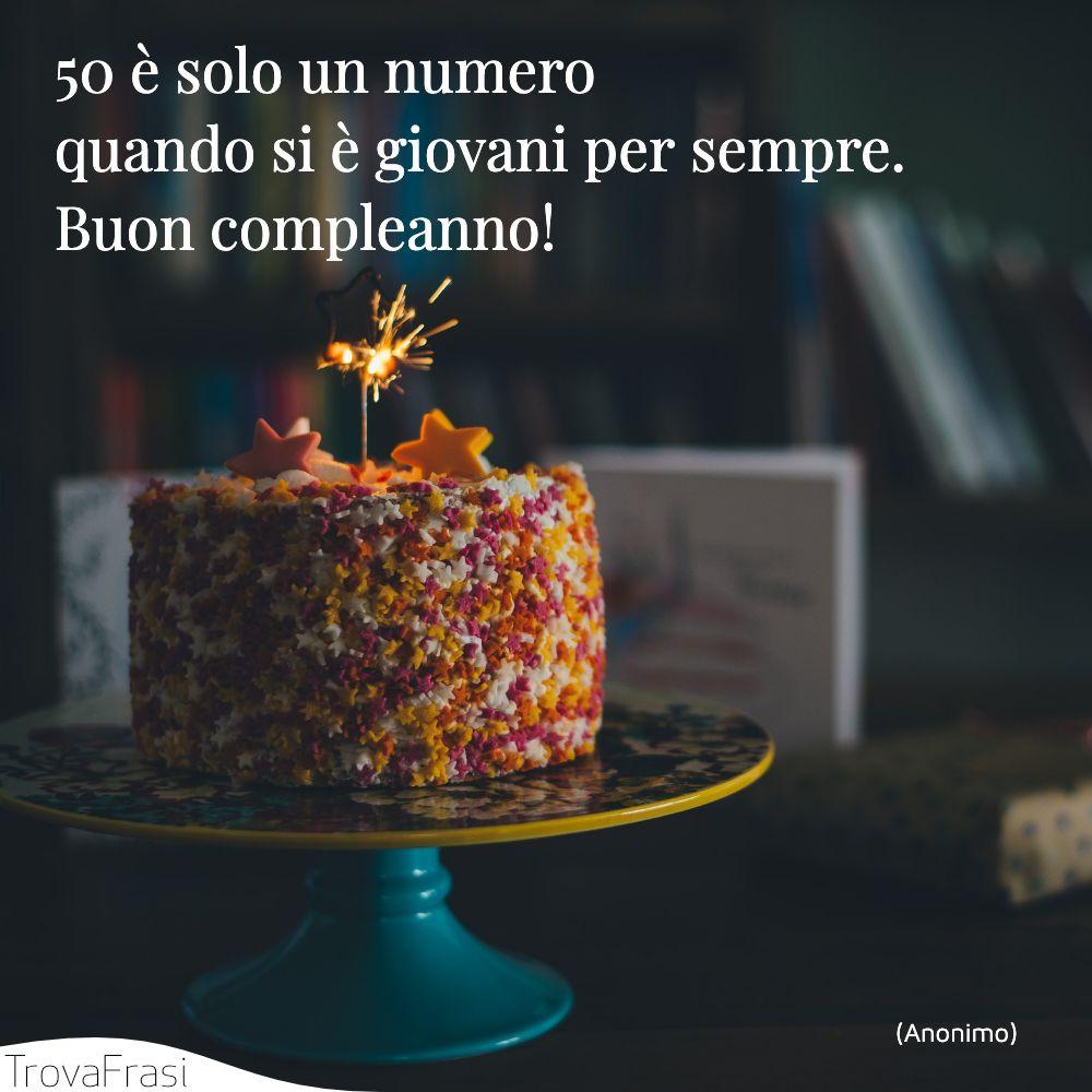 50 è solo un numero quando si è giovani per sempre. Buon compleanno!