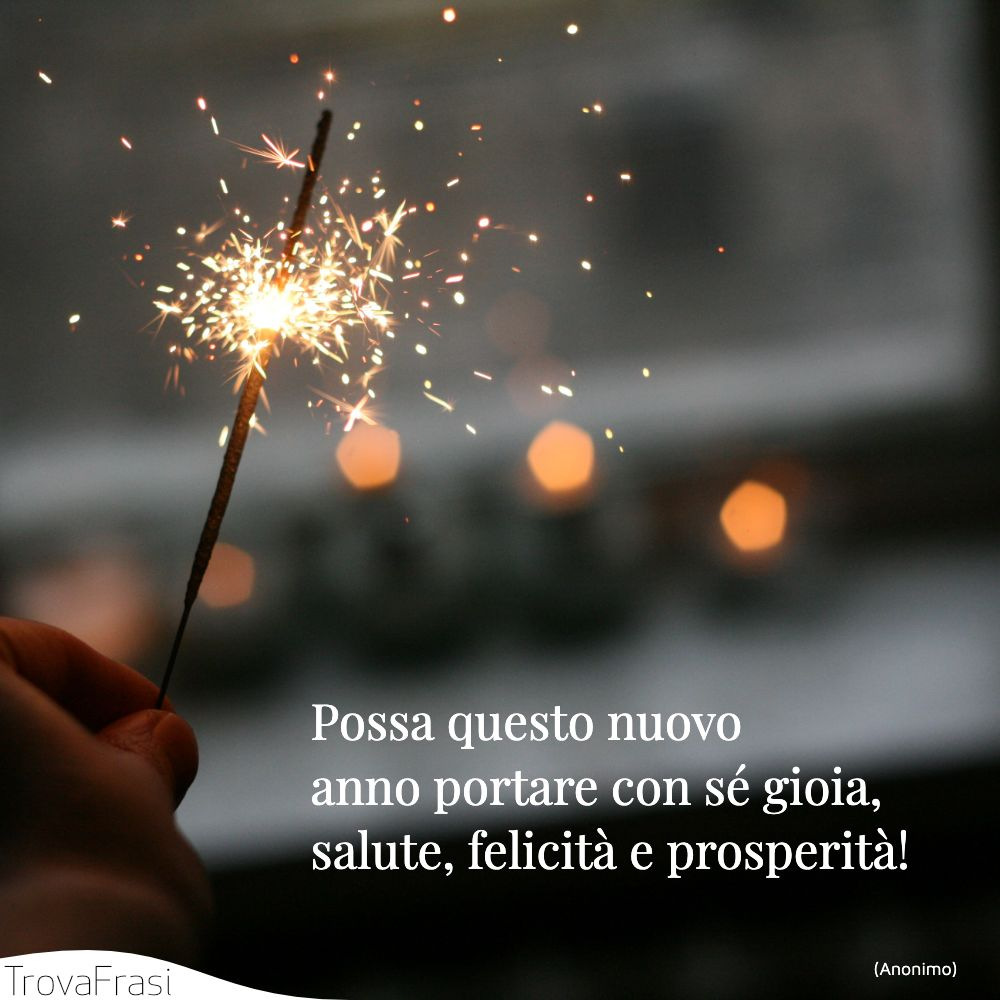 Possa questo nuovo anno portare con sé gioia, salute, felicità e prosperità!