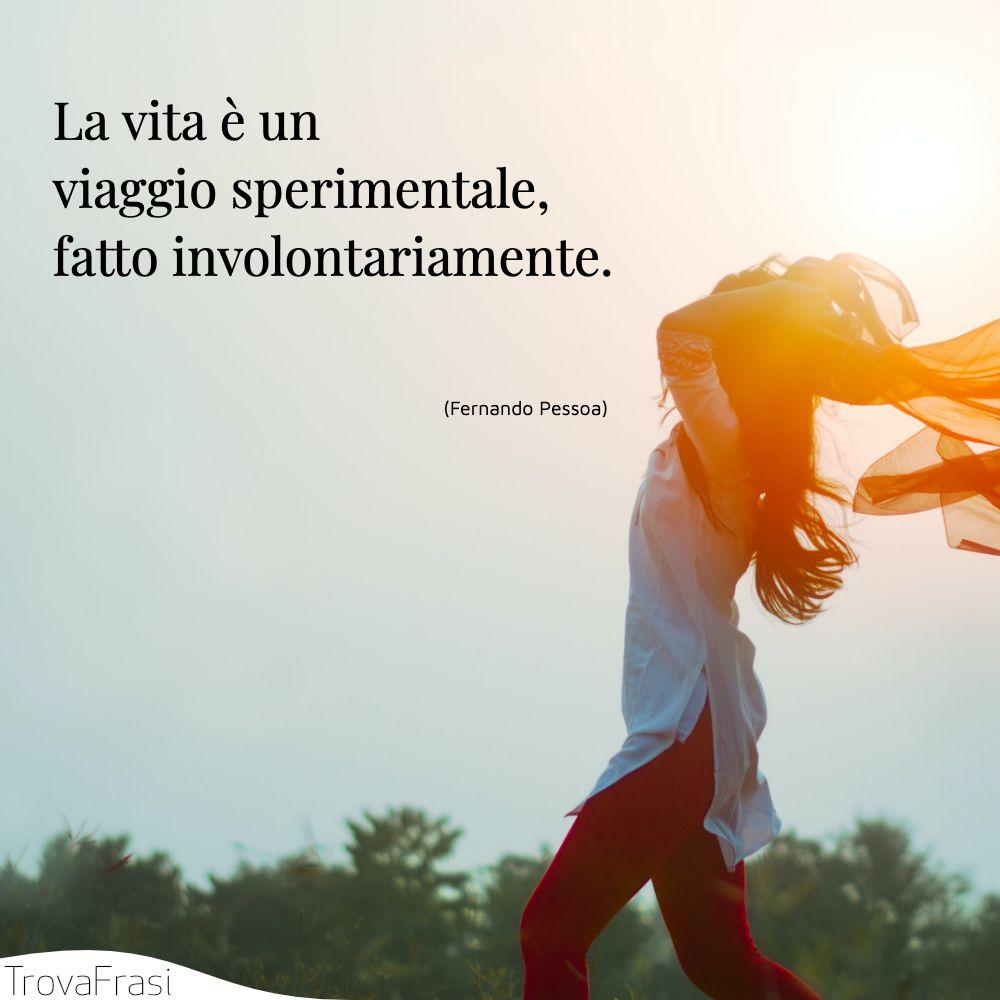 La vita è un viaggio sperimentale, fatto involontariamente.