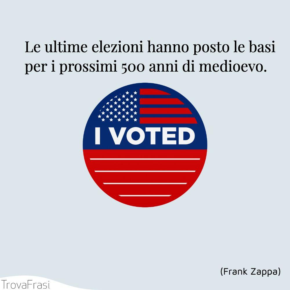 Le ultime elezioni hanno posto le basi per i prossimi 500 anni di medioevo.