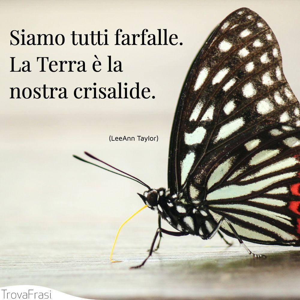 Siamo tutti farfalle. La Terra è la nostra crisalide.