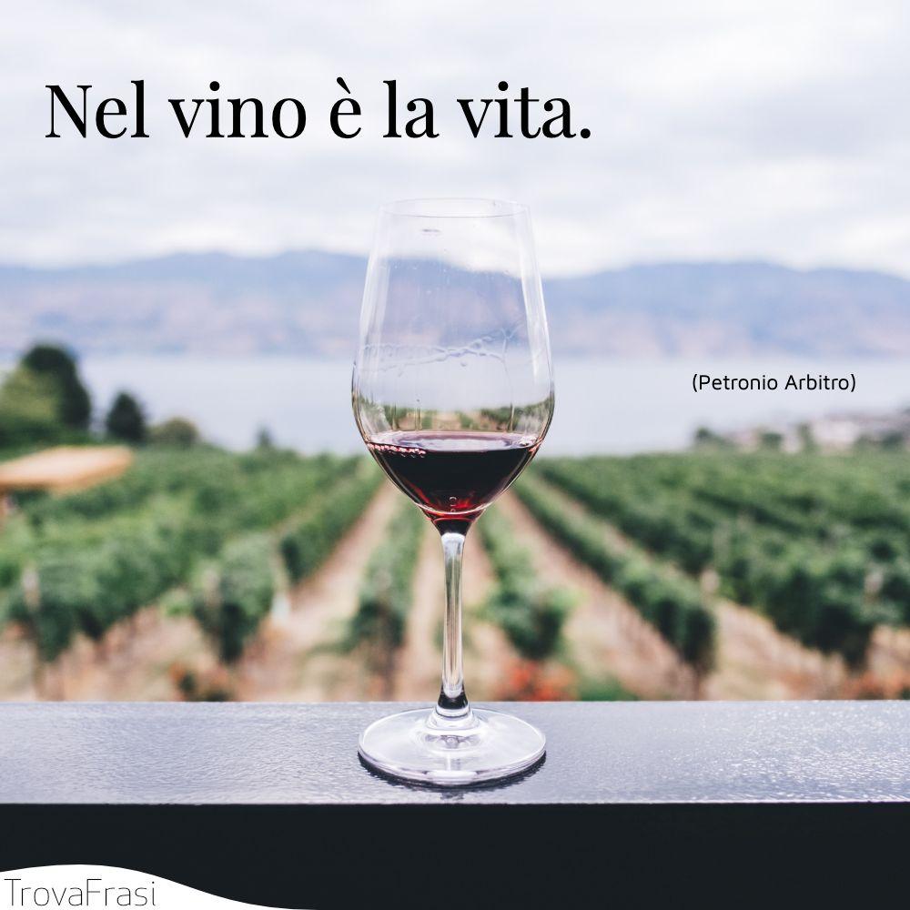 Nel vino è la vita.