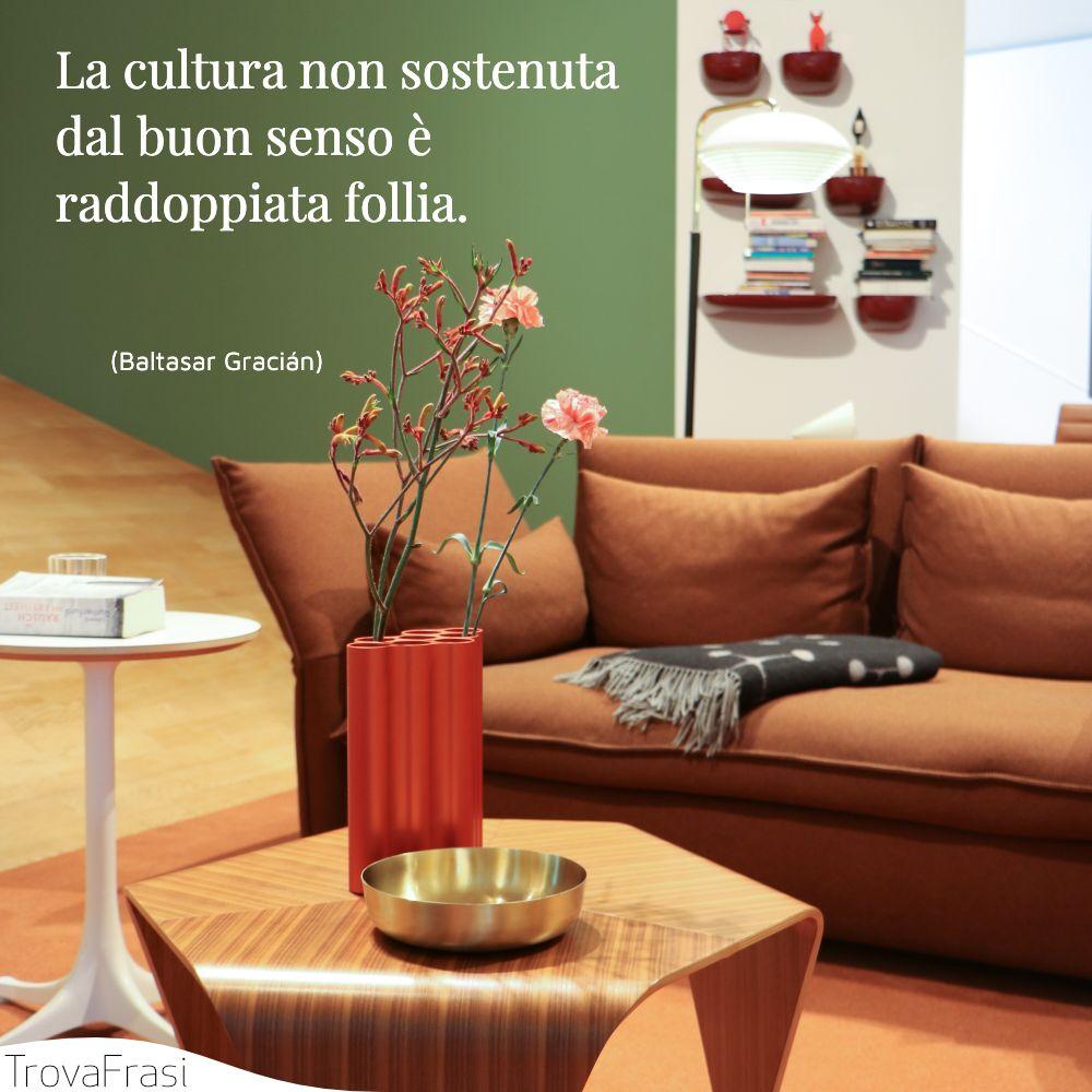 La cultura non sostenuta dal buon senso è raddoppiata follia.