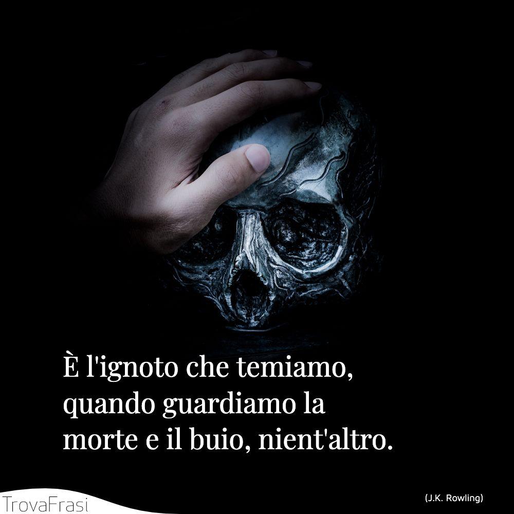 È l'ignoto che temiamo, quando guardiamo la morte e il buio, nient'altro.