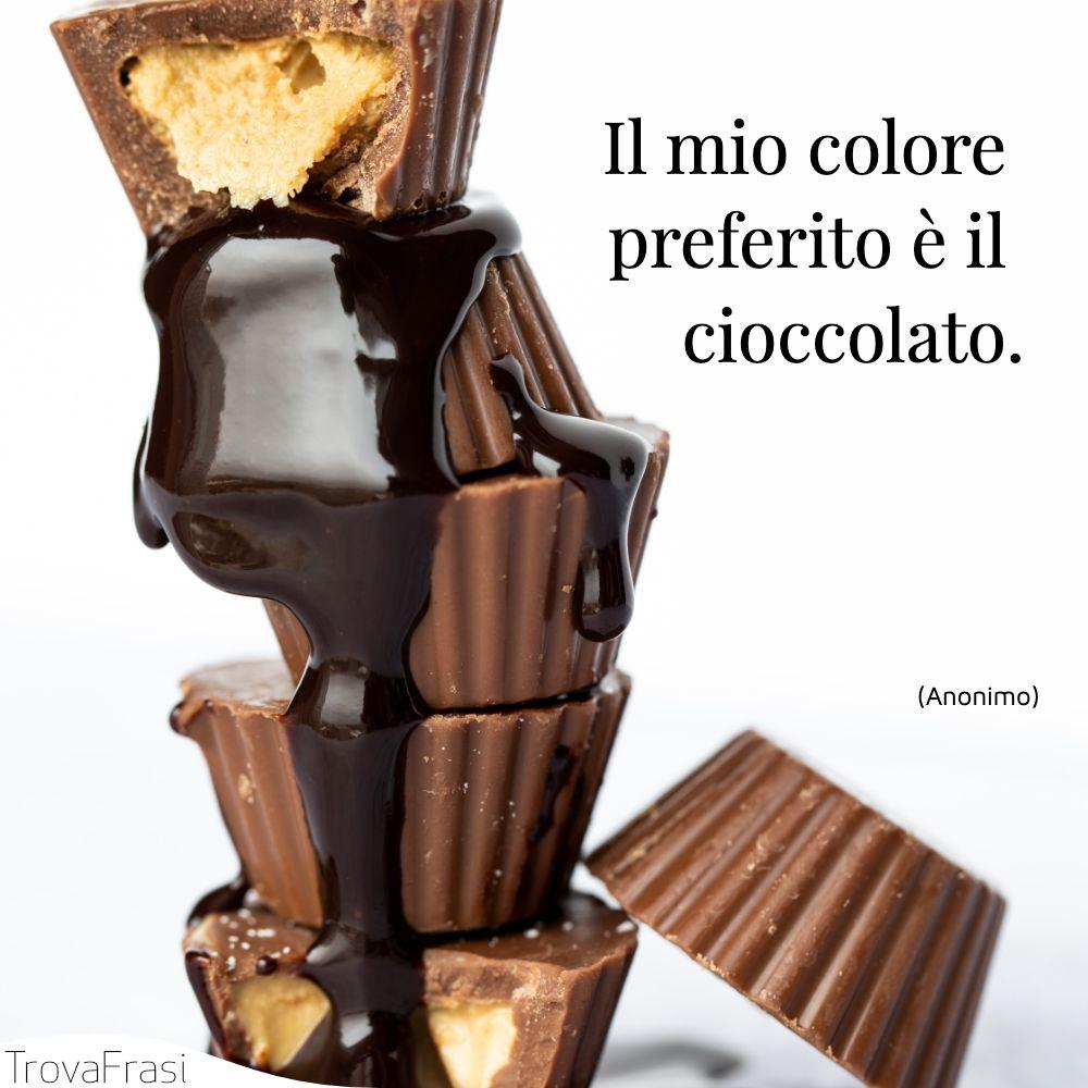 Il mio colore preferito è il cioccolato.