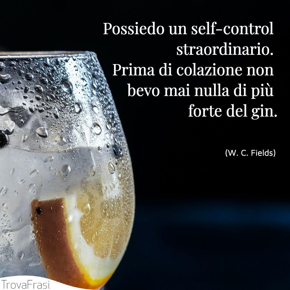 Possiedo un self-control straordinario. Prima di colazione non bevo mai nulla di più forte del gin.