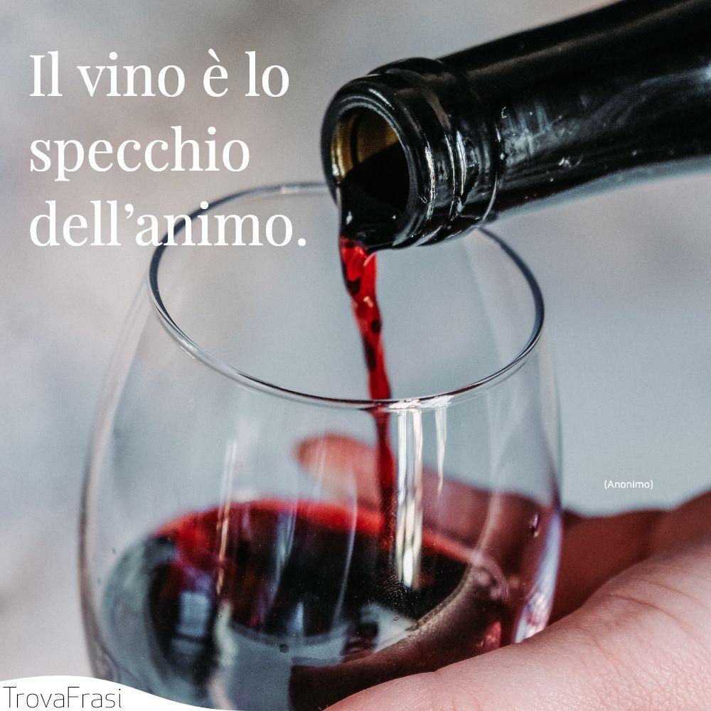 Il vino è lo specchio dell'animo.