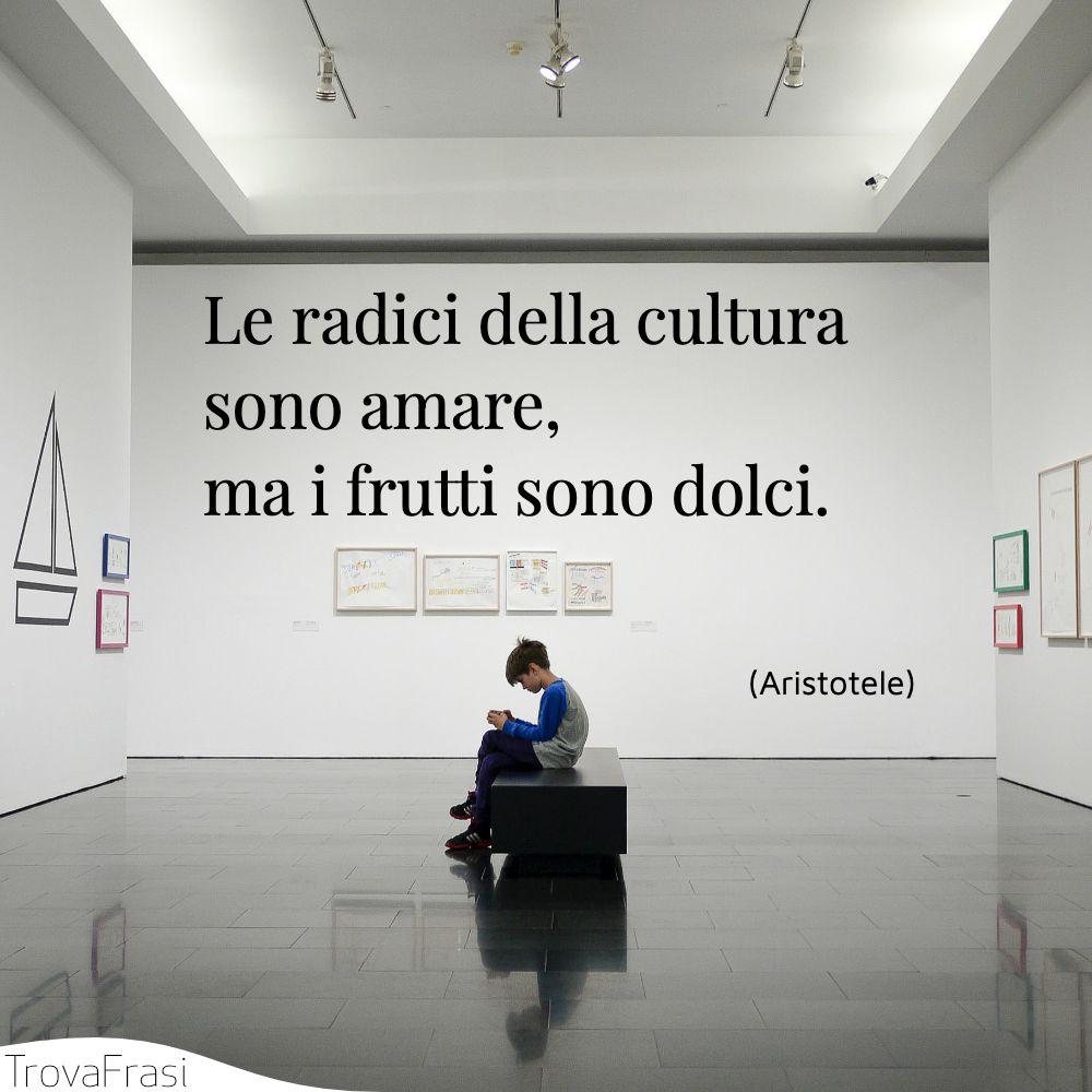 Le radici della cultura sono amare, ma i frutti sono dolci.