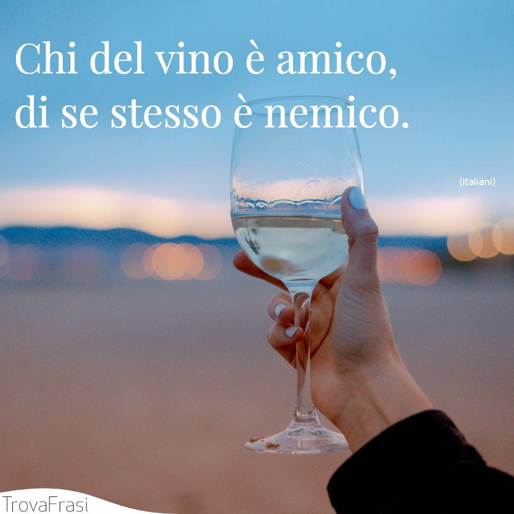 Chi del vino è amico, di se stesso è nemico.