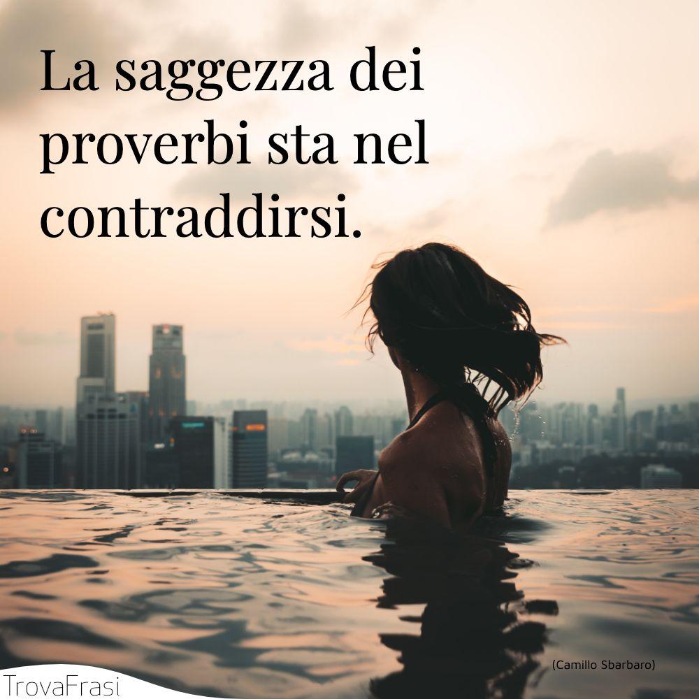 La saggezza dei proverbi sta nel contraddirsi.